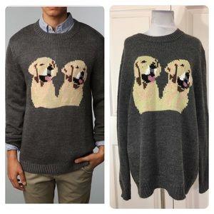 Peter Jensen for UO golden retriever sweater